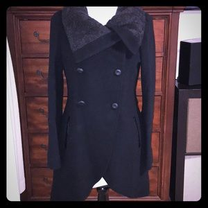 NWOT Mackage Black wool button coat.  Size M